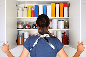Cleaning and organizing your pantry is a good first-step towards wiping out pantry moth infestations