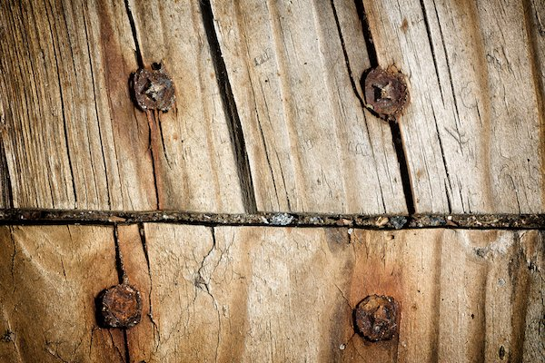old, cracked wood