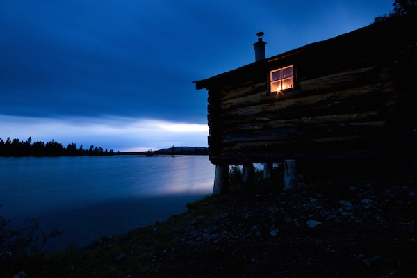 Use LED lights to prevent pests at your cabin
